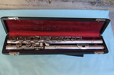French Vintage Collectible Flute Leblanc Silver Made