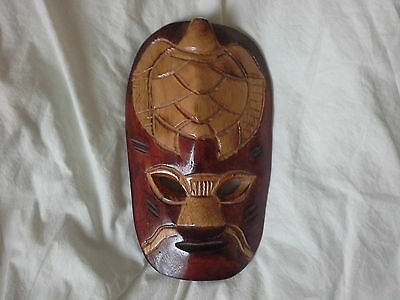 Small Carved Wooden African/Tribal Looking Mask Wall Hanging