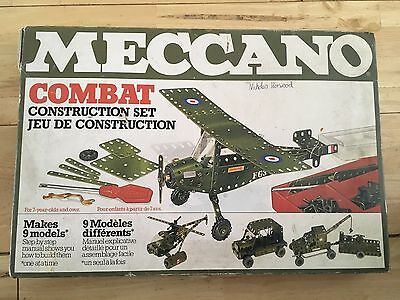 Vintage Meccano Combat Construction Set From 1978 Box & Instructions Only