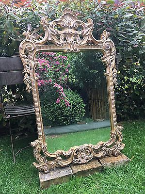 19th Century French Louis XVI Style Gilt Wood Mirror