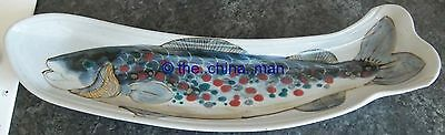 "24"" HIGHLAND STONEWARE SCOTLAND FISH SERVER with highly coloured FISH"