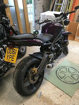 Triumph street triple 2011. Purple 11,107 miles