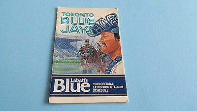1989 MLB Official Toronto Blue Jays Pocket Schedule*Exhibition Stadium/Sky Dome*