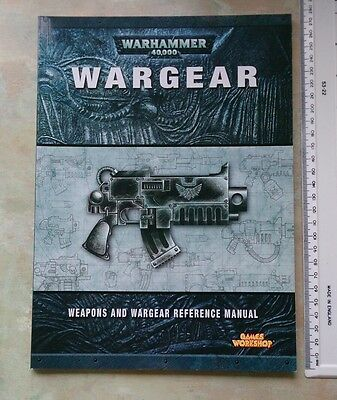 Wargear Warhammer 40k 40,000 weapons reference manual Games Workshop book