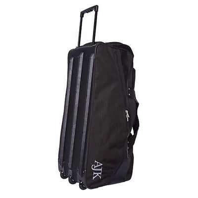 Salix AJK 33 Three Wheeled Stand Up Cricket Bag - Black