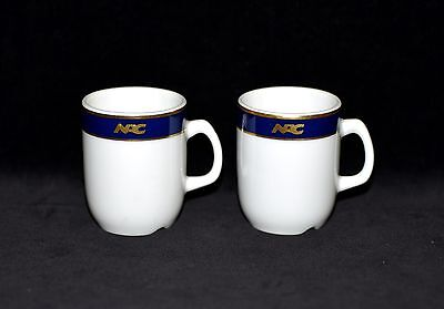 "Norwegian American Cruises"" Vistafjord ""Pattern Steamship Demi Cups"