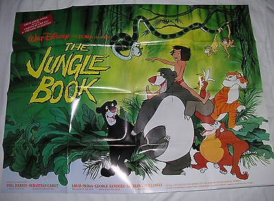 Walt Disney's 'The Jungle Book'  Original UK Quad Poster