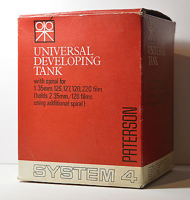 Paterson System 4 Universal Film Developing Tank in a Box w/Manual
