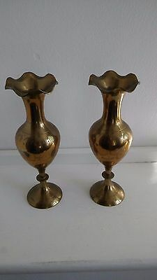 *USED* - Pair (2) Brass Candle Sticks