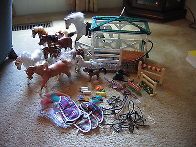 Empire Industries horses, paddock, saddles, bridles, blankets, accessories