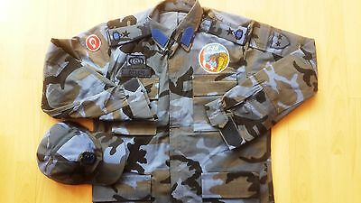 Turkish army rare blue woodland camouflage jacket new official camo bdu shirt