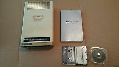 Coleco Adam Computer DISK DRIVE plus 2 software tapes, and ADAM programming book