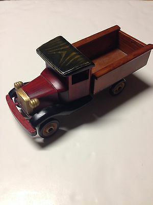 Vintage Handmade Wooden Delivery Truck Bank Handcrafted Maple Ridge Farms