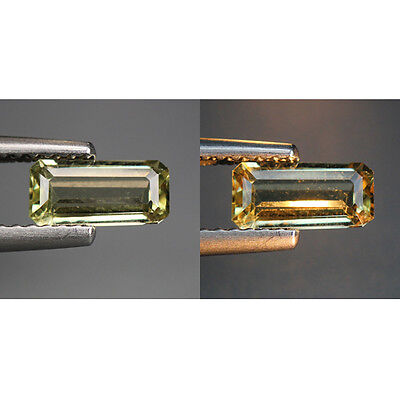 0.83 Cts_World Class Rare Gem_100% Natural Color Change Diaspore_Turkey