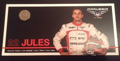 Official Marussia F1 Team Jules Bianchi Driver Card