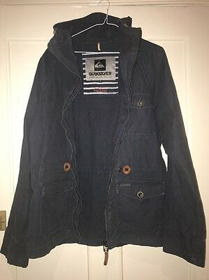 Quiksilver Mens Navy Fishermans Jacket Size M