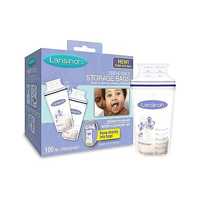 Lansinoh Breastmilk Storage Bags 100 Count BPA Free and BPS Free - NEW FREE SHIP