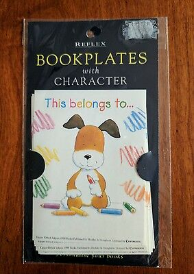 Pack Of 10 Bookplates 'this Book Belongs To...' With Kipper The Dog Character