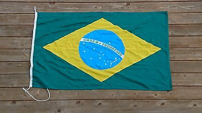 Vintage Brazil flag 145cm x 90cm cotton