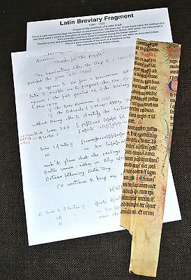 Large Medieval Manuscript Parchment c1300 Latin Breviary Easter