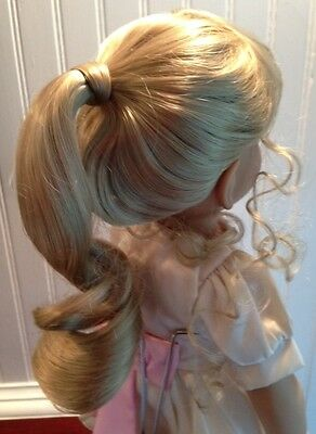 "*RARE* Monique JEANNIE* Blonde Doll Wig, Sz 12-13, fits 18"" My Twinn +"