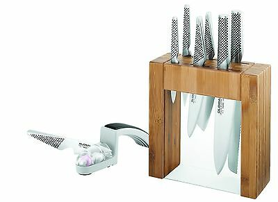 BRAND NEW Global Ikasu 7p Knife Block Set+ BONUS Water Sharpener LOWEST PRICE!