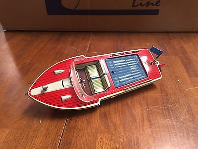 Vintage Wind Up Boat 12 Inches Long Made In Japan