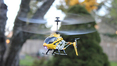 Syma S107G Remote Control Helicopter with LED Flashing Lights - Blue - Free Post
