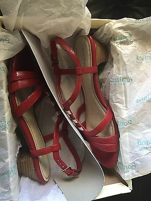 Women's Red Shoes Sandals Size 7