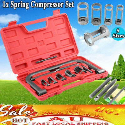 New 10pcs Valve Spring Compressor Tool Kit For Car Motorcycle AU Stock