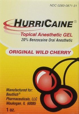 HurriCaine Topical Anesthetic Gel Wild Cherry - 1 oz