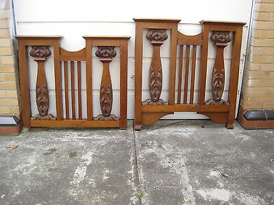 Antique Solid Timber Single Bed Head & Foot Only