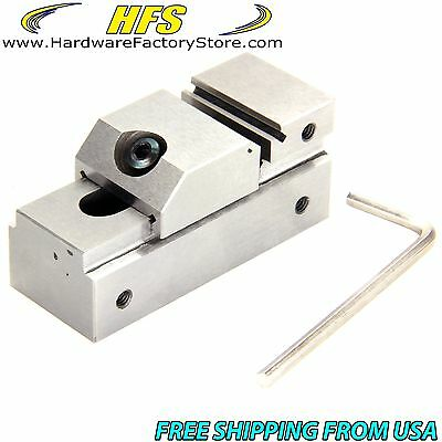 "HFS 1"" Precision Grinding Screwless Mini Insert Vise Toolmaker Steel .0002"""