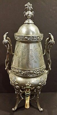Antique MEAD & ROBBINS Silverplate Samovar dated 1876