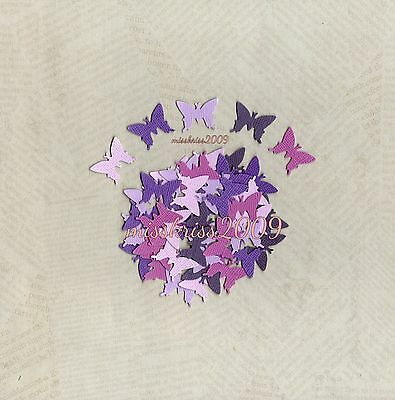 Butterfly Punchies x100 ~ Shades of Purple ~ Scrapbooking/Cardmaking