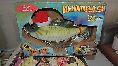 Gemmy Big Mouth Billy Bass Christmas In Box R8912 new