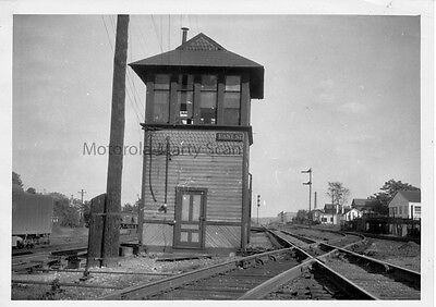 New York Central Railroad East St Tower Springfield OH 1948 Orig Darkroom Photo