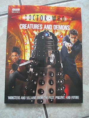 Doctor Who Creatures and Demons Paperback Book