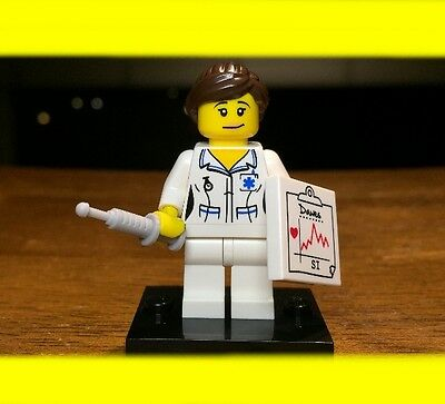Lego Collectible Series 1 Nurse Genuine Authentic Minifigure Rare Original 8683