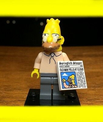 LEGO THE SIMPSONS SERIES 1 GRANDPA w/ NEWSPAPER GENUINE MINIFIGURE SET# 71005