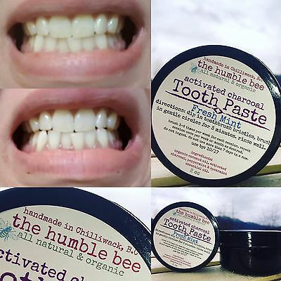 Handmade Activated Charcoal Whitening Toothpaste