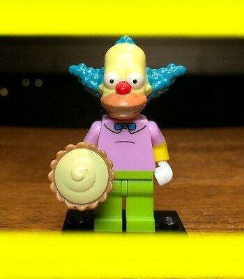 LEGO THE SIMPSONS SERIES 1 KRUSTY THE CLOWN  w/ PIE GENUINE MINIFIGURE #71005
