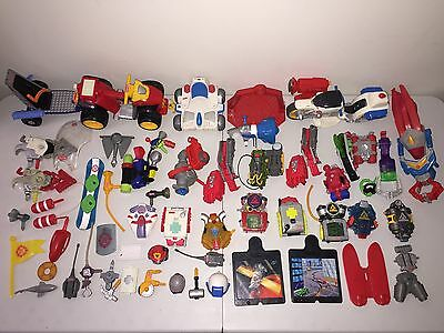 Lot of Rescue Heroes Backpacks, Vehicles & More - Played With Fisher Price