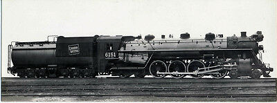 CN Canadian National Railroad Steam #6151 4-8-4 1929 Builders Photo