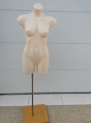 Female Plastic Torso on Stand/ Full Body Form