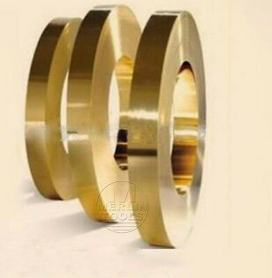 Select Thick 0.1mm - 0.6mm Brass Sheet Strip Foil Blank Plate Block 18 20 30mm