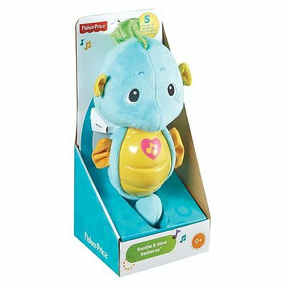 Fisher-Price Ocean Wonders Soothe & Glow Sea Horse  Blue