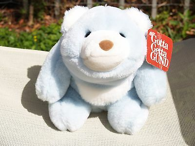 "Rare- Vintage Gund - Pastel Blue - Snuffles Bear - #2170 -9 1/2"" -1980- All Tags"
