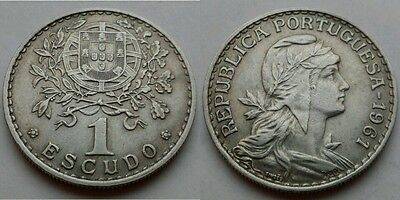 Portugal 1 Escudo 1961. KM#578. One Dollar coin.