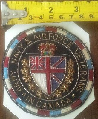 """vintage Army, Navy & Air Force Veterans """"In Canada"""" Embroidery Patch"""